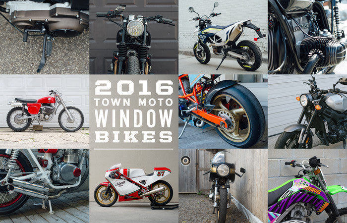 Town Moto's 2016 Window Bikes