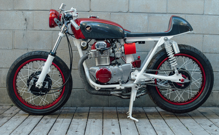 1971 Honda CB350 Cafe Racer by Bullit Cycles