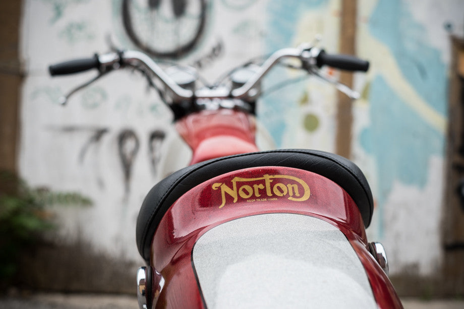 Norton Commando Fastback - Town Moto June 2017 Window Bike