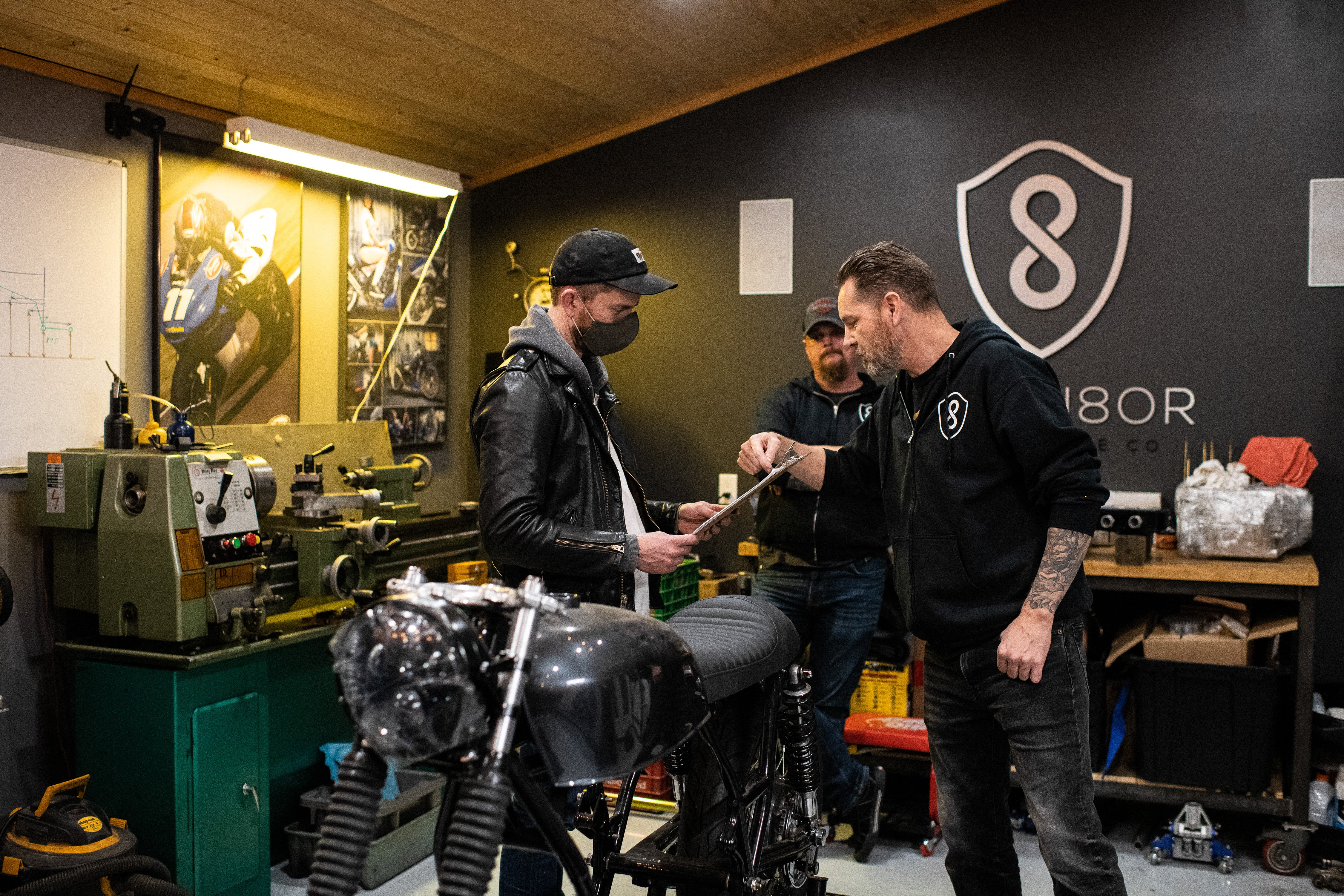 origin8or shop visit with town moto