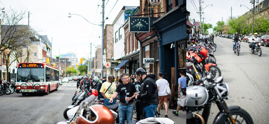 Town Moto Ride-In May 2019 - Motorcycles parked outside Town Moto at 132 Ossington