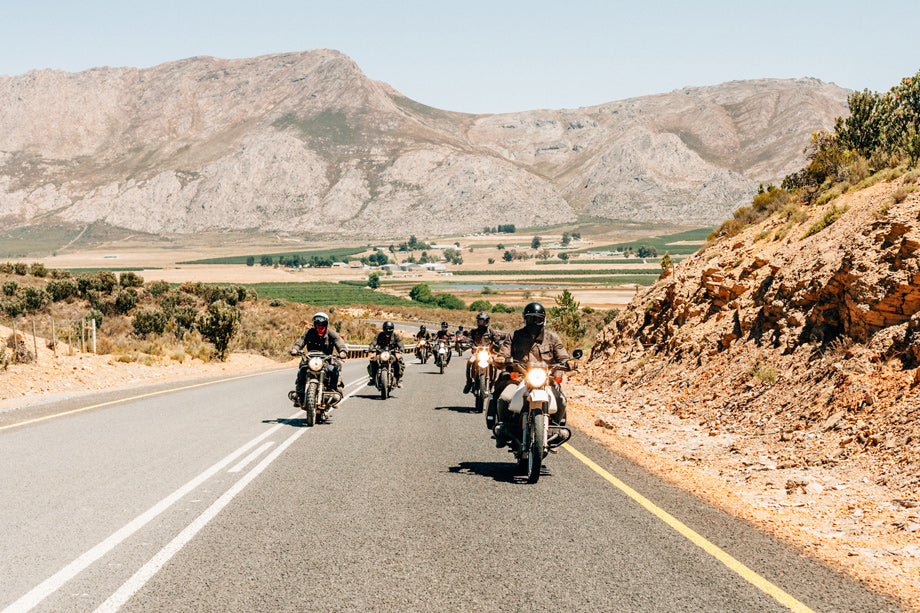 Riding motorcycles North of Cape Town