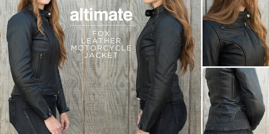 Altimate Fox Women's Leather Motorcycle Jacket