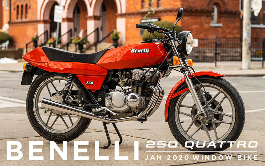 1981 Benelli 250 Quattro - Town Moto Window Bike Jan 2020