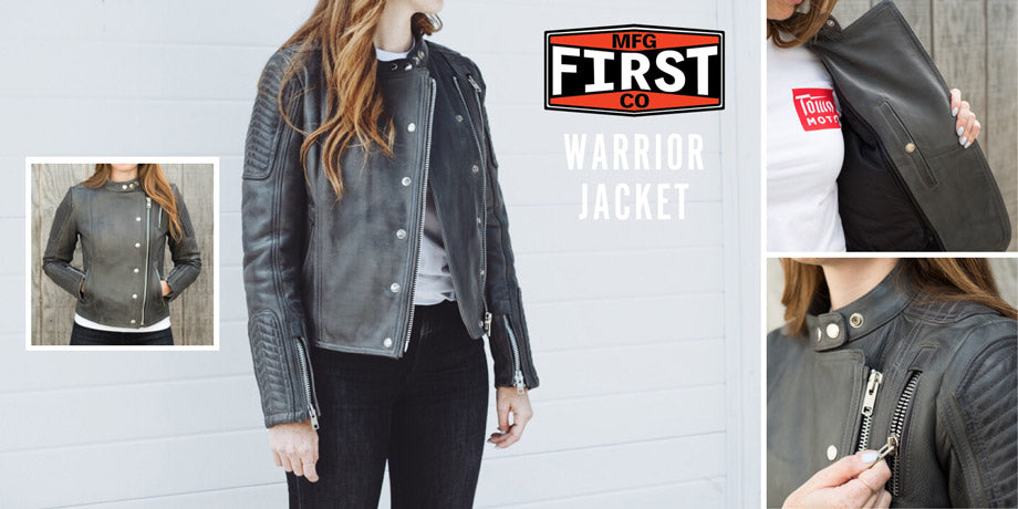 First Women's Warrior Leather Motorcycle Jacket