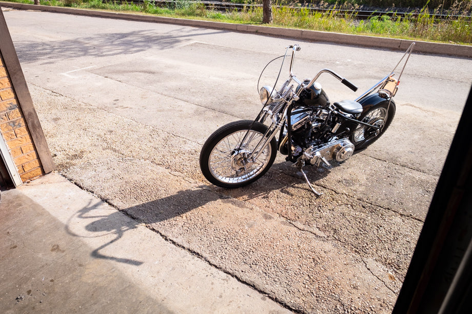 Jason's Panhead Chopper - used to be called the shop bike for all to ride, not anymore!
