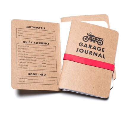 Town Moto Holiday Gift Guide 2017 - Garage Journal 3 pack set