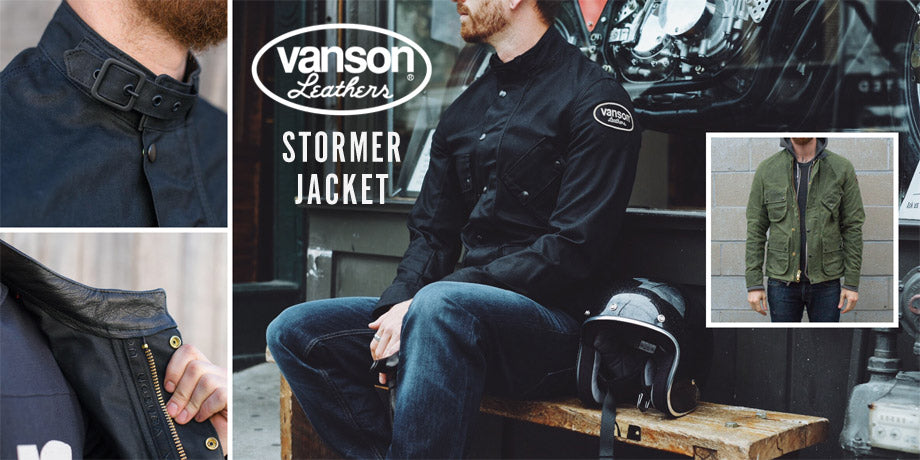 Town Moto Top 5 Fall Riding Jackets - Vanson Waxed Canvas Stormer Jacket