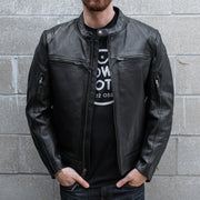 First MFG Top Performer Jacket, Black Leather, Main
