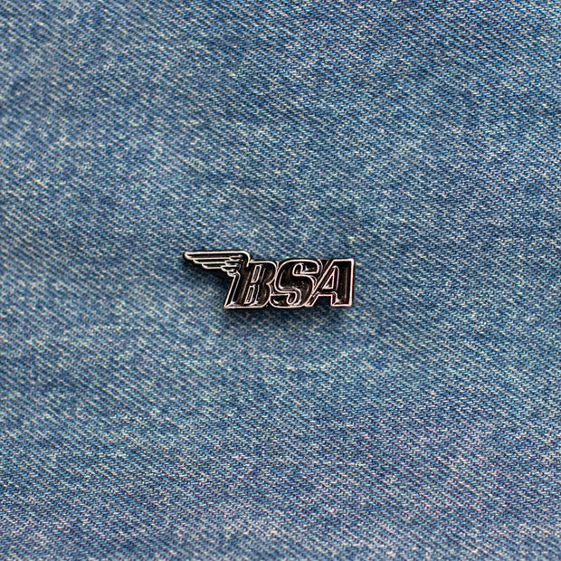 Pewter BSA Motorcycles Pin with Black Detail