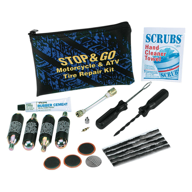 Stop & Go Pocket Tube & Tubless Tire Plugger Kit w/ CO2