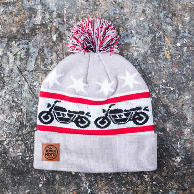 Town Moto Motorcycle Knit Toque