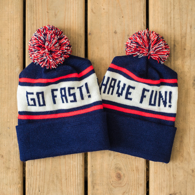 Town Moto Go Fast! Knit Toque