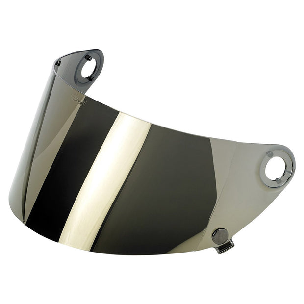 Gold Mirror Shield for Biltwell Gringo S Motorocycle Helmet