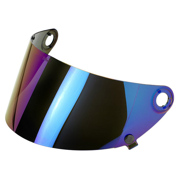 Rainbow Mirror Shield for Biltwell Gringo S Motorocycle Helmet