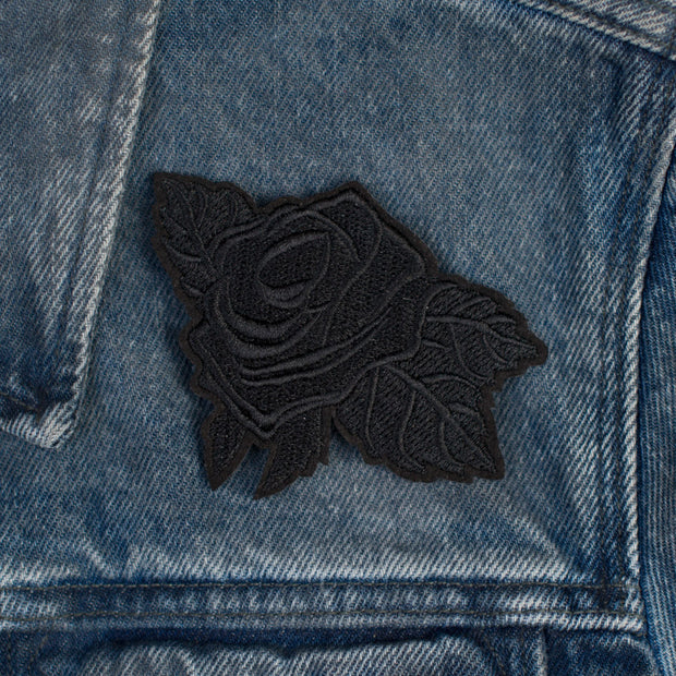Detail Shot of Black Rose Patch