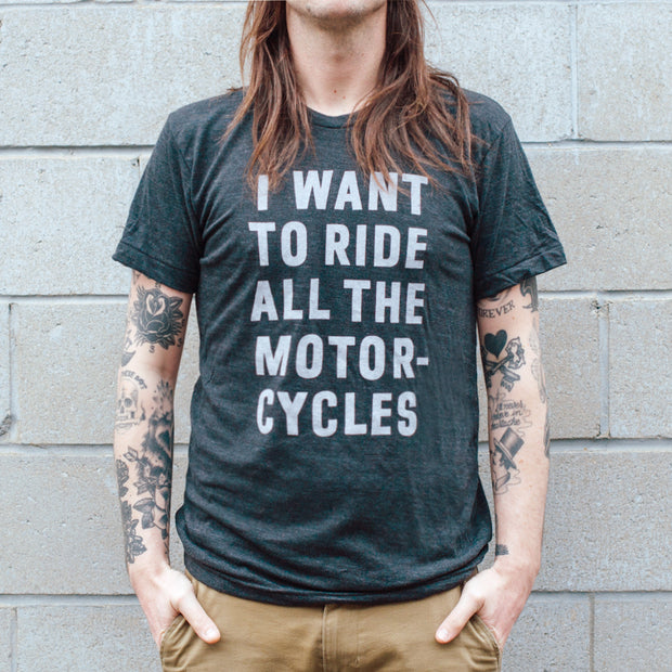 Town Moto Unisex All of The Motorcycles T-Shirt