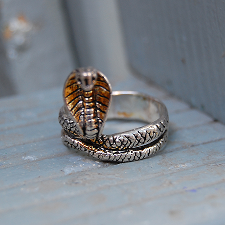 King Cobra Ring, Silver, Main
