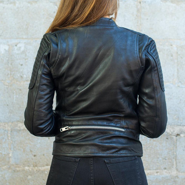 First Womens Warrior Jacket, back detail, black
