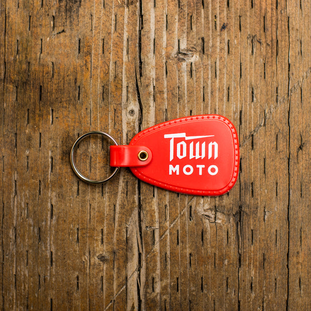 Town Moto Logo Plastic Keychain - Red