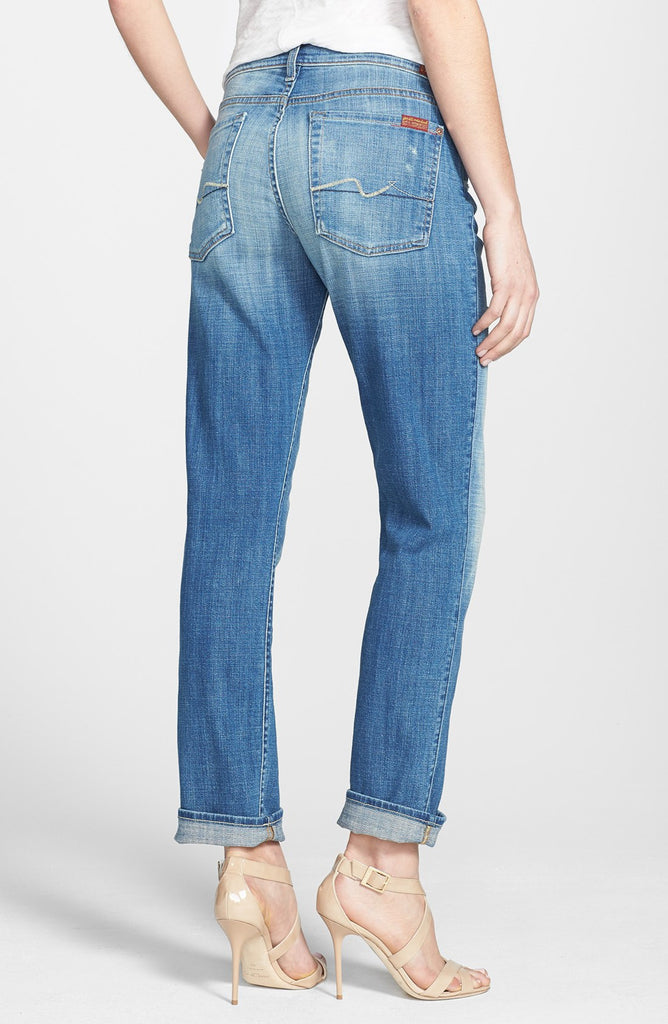 Josefina Boyfriend Jeans Bright Light Broken Twill