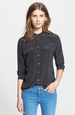 Slim Signature Silk Shirt