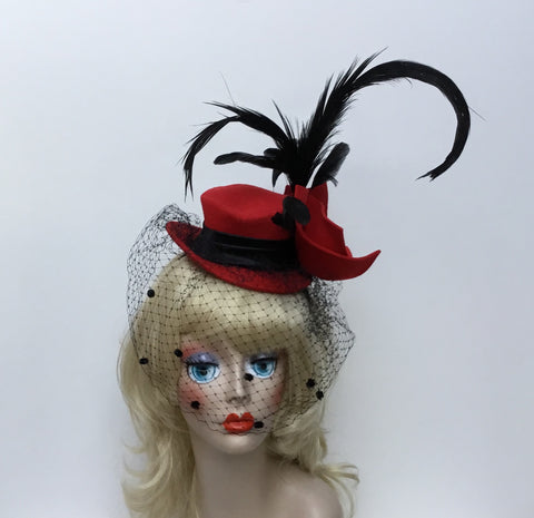 Red Haute top hat