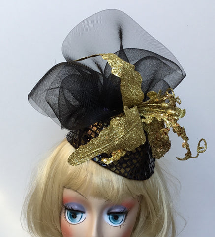 """Twinkle""  a perfect little black hat for your little black dress."