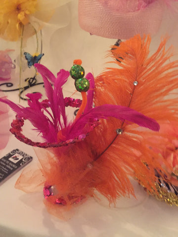 """FIESTY""Martini Fascinator"