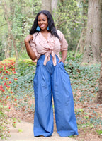 Chambray Trousers (Size Small)