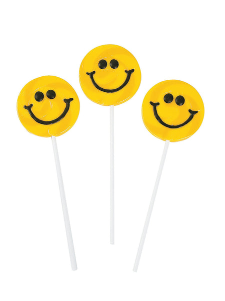 Large Smiley Face Lollipop