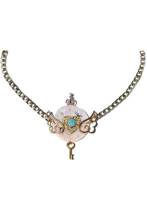 Lolita Pastel Clock Collar Necklace