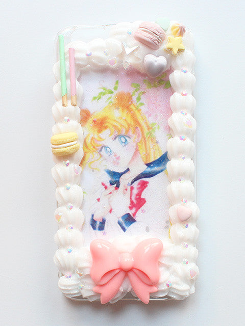 (Ready To Ship)Whip Frame Decoden IPhone 6+ /Usagi Tsukino Framed Phone case