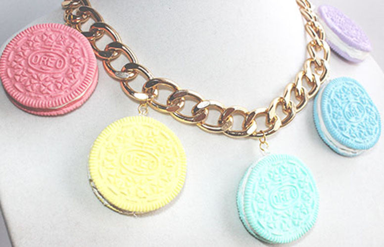 Kawaii Pastel Oreo Statement Necklace