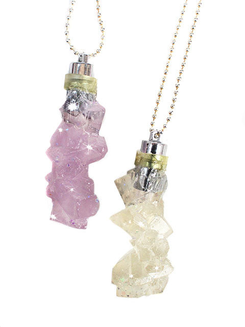 Rock Crystal Light up Charm Necklace