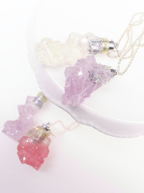 Rock Cluster Crystal Light up Charm Necklace