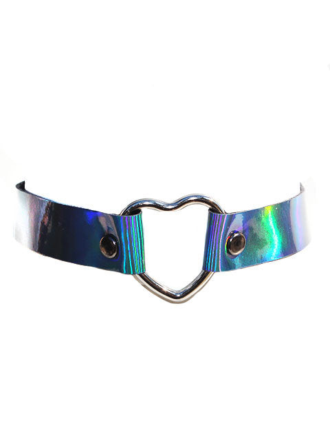 Holographic Heart Chokers- More Colors