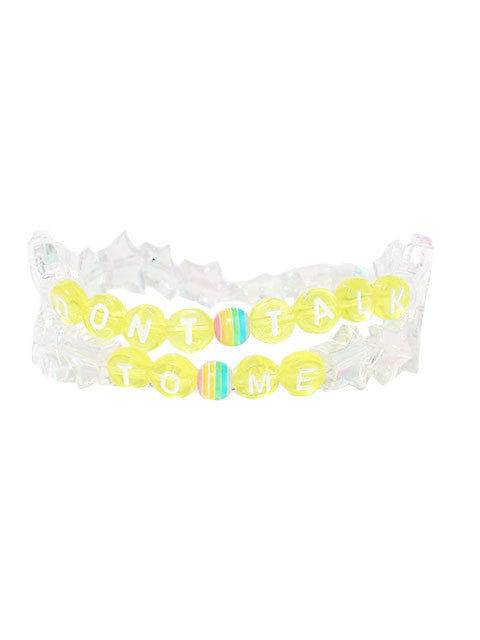 """Don't Talk To Me"" A/B Pastel Star Braclets"