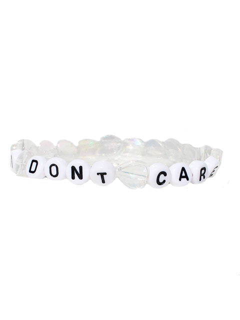 """I Don't Care"" A/B Heart Bracelets"