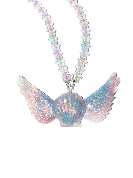 Iredescent Pastel Magical Girl Collar Necklace Pendant