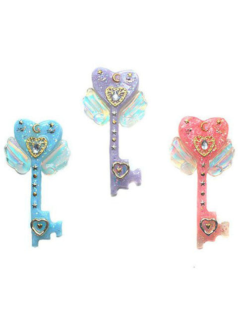 Pastel Dreamy Heart Key Necklace Pendants/Sweet Lolita/Kawaii Jewelry/Wand Necklace/Staff Necklace
