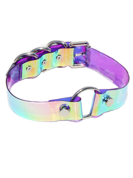 O-Ring Holographic Iridescent Choker