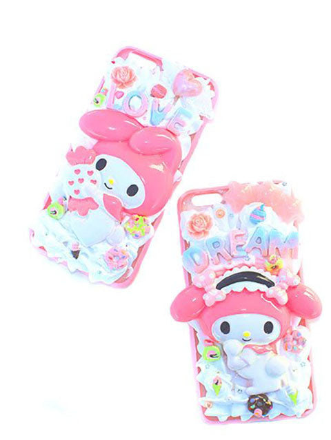 Pastel Kawaii My Melody Deco Phone Case For IPhone 6+ Ready To Ship
