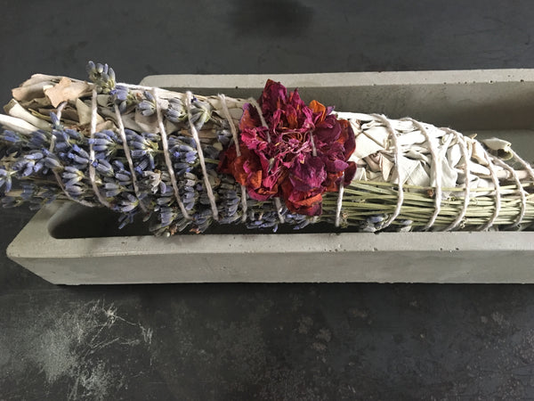 Pure Love - XL Smudge Bundle - Sage - Lavender - Camellia - Zen Decor
