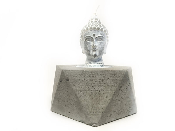 Medium Concrete Geometric Tealight Holder