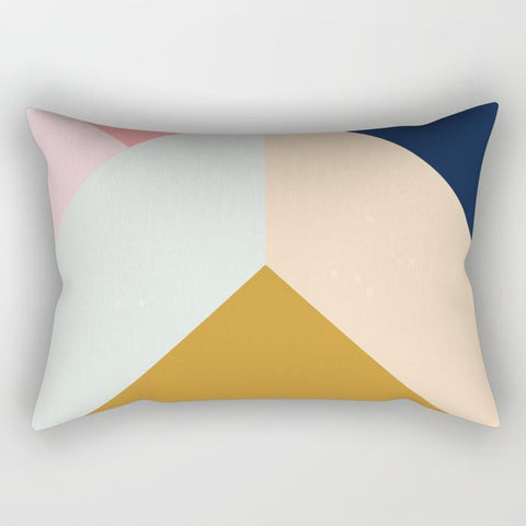 Sunrise Geometric Lumbar Pillow