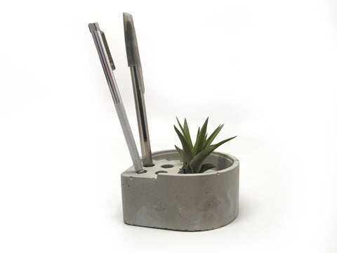 Concrete Pen Holder and Air Plant