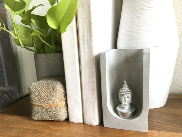 The Niche Concrete Tealight Holder - Concrete Home Decor - Handmade - Gift Ideas - Wedding Decor