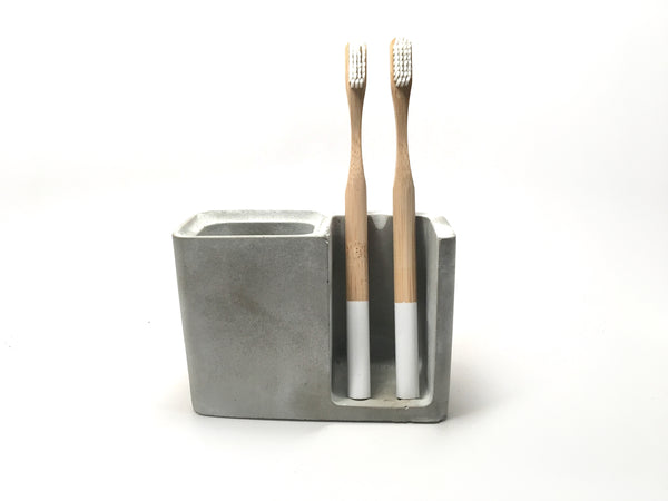 Modern Concrete Toothbrush Holder
