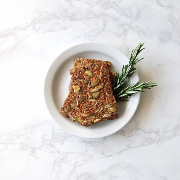 Rosemary Flax Seed Crackers